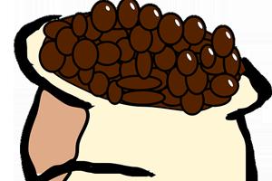 Ambientador casero para la nevera con café