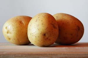 Patata para la comida salada