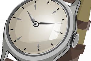 Limpiar la correa de cuero del reloj de pulsera con bicarbonato