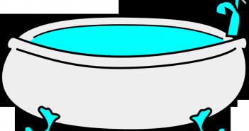 Bañera limpia con vinagre y bicarbonato