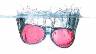 Limpiar las gafas con bicarbonato