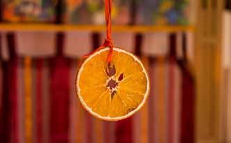 Hogar con buen olor con naranja